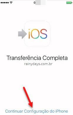 transferência completa do Android para iOS