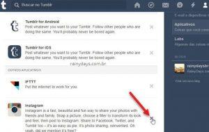 Como desautorizar aplicativos no Tumblr