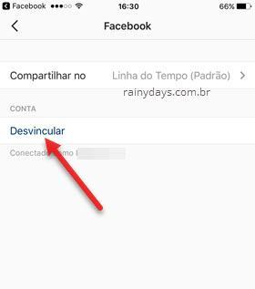 Como desvincular Facebook do Instagram