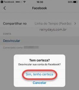Como desconectar o Facebook do Instagram