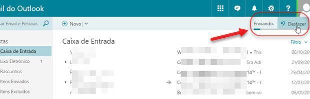 desfazer envio de email no Outlook Microsoft