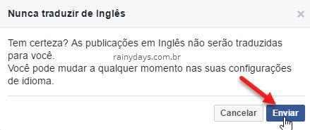 Nunca traduzir de inglês no Facebook