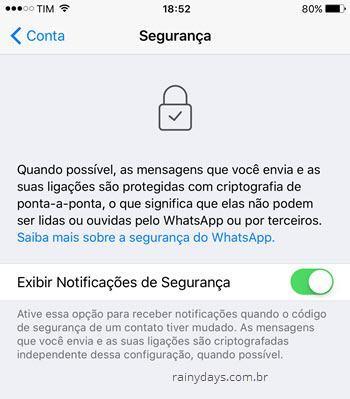 Receber alerta no WhatsApp quando amigo trocar de aparelho