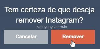 Remover aplicativo Instagram do Tumblr