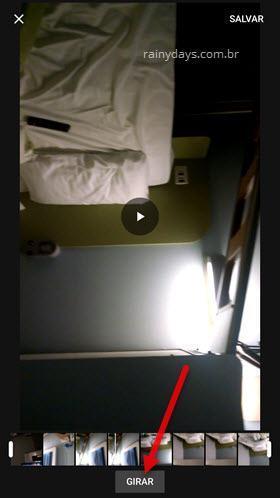 Rotacionar vídeo no Android e iPhone com Google Fotos 2