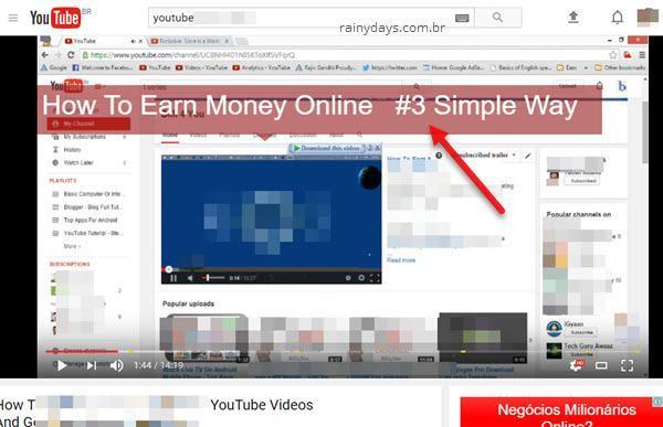 anotações inconvenientes no meio da tela vídeo YouTube