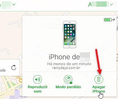 apagar iPhone pelo iCloud computador