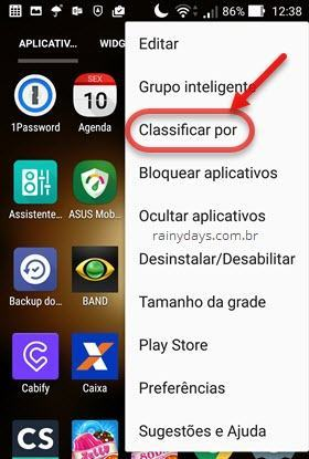 Aplicativos Classificar por no ZenFone