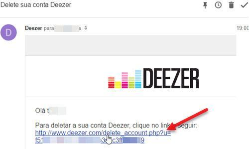 como excluir conta do Deezer permanentemente
