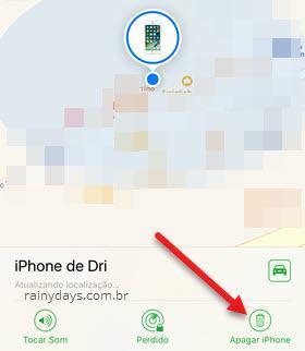 desativar BUscar iPhone pelo app Buscar iPhone
