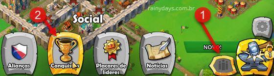 Objetivos e conquistas Age of Empires Castle Siege