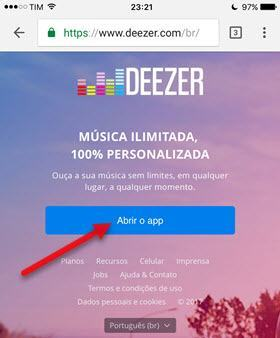 TIM desconectou do Deezer reconectar Timmusic
