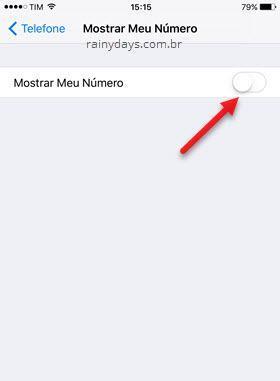 Como esconder número de telefone no iPhone