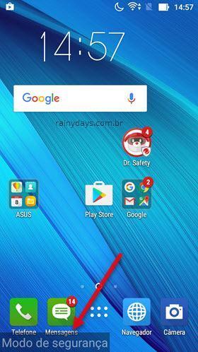 Como iniciar Android em modo de segurança