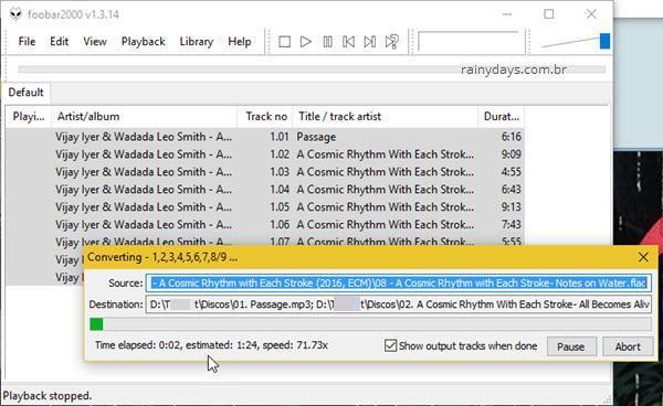 converter flac em mp3 com foobar