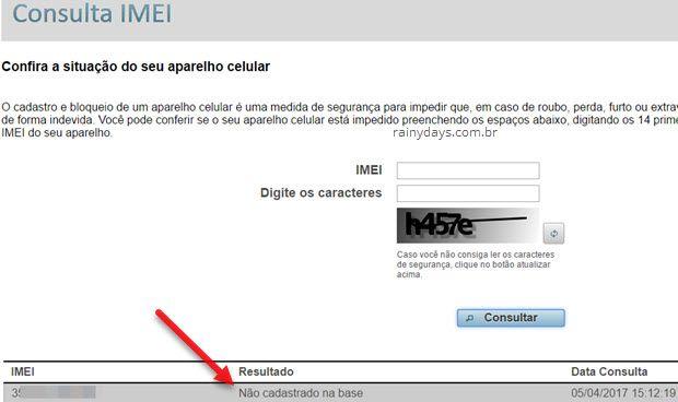 IMEI não cadastrado na base Anatel bloqueio operadoras