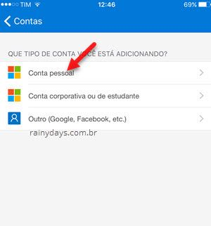 adicionar conta pessoal no autenticador Microsoft