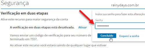 Ativar verificação em duas etapas no LinkedIn