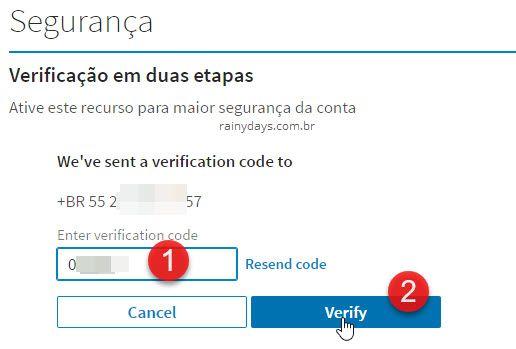 Ativar verificação em duas etapas no LinkedIn 3