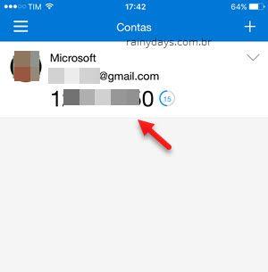 códigos verificação em duas etapas Microsoft
