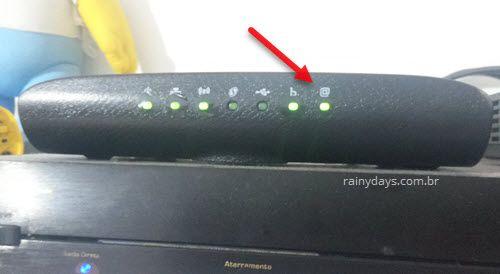 modem Technicolor TD5336 conectado no Velox