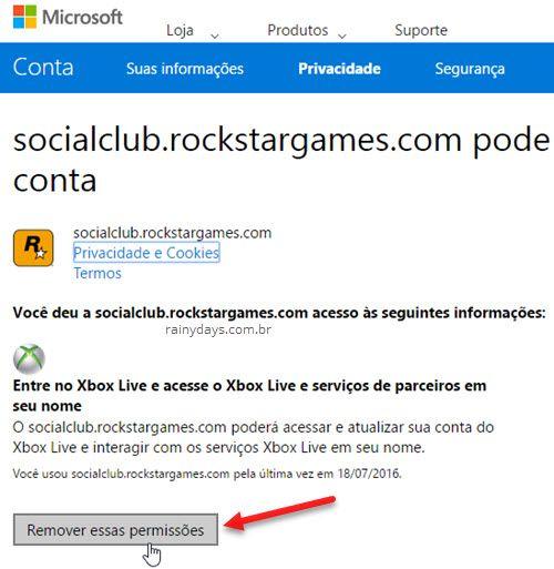 Remover acesso de aplicativos à conta Microsoft Outlook