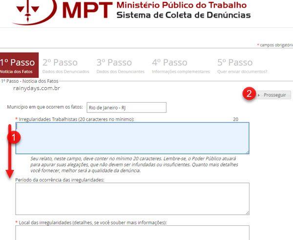 Sistema de coleta de denúncias Ministério do Trabalho