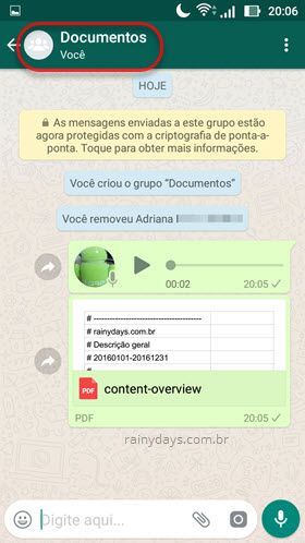 como usar o WhatsApp para guardar documentos