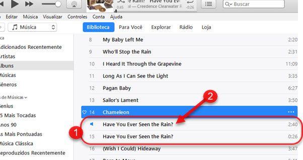 cópia da música em aac no iTunes iPhone