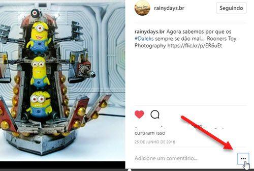 ícone três bolinhas post Instagram web