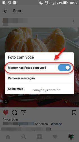Manter nas Fotos com Você Instagram Android