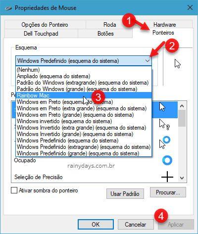 Como mudar o cursor do mouse no Windows