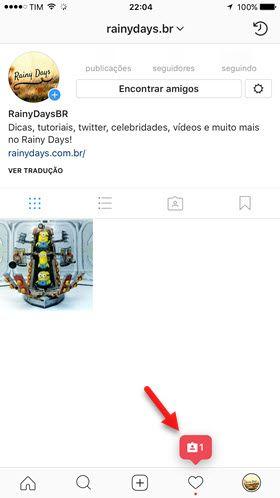 notificação de marcação do Instagram