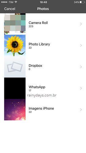 albúns de fotos iPhone zipar Zip Tool