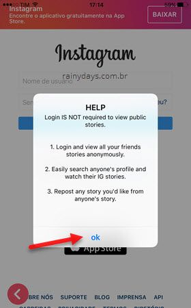 Aplicativo InstaStory iOS