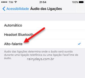 Como atender ligações sempre em viva-voz no iPhone