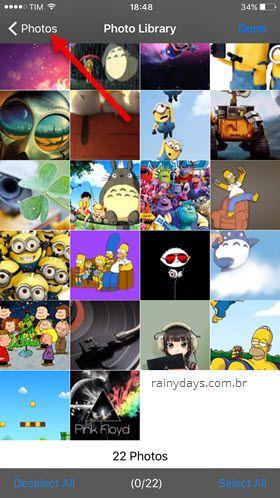 Biblioteca de fotos iPhone zip tool