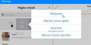 Como bloquear uma pessoa no Messenger