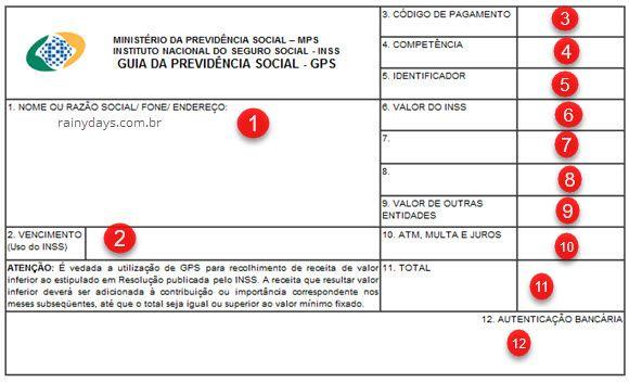 Como contribuir para o INSS como autônomo Guia Previdência Social GPS