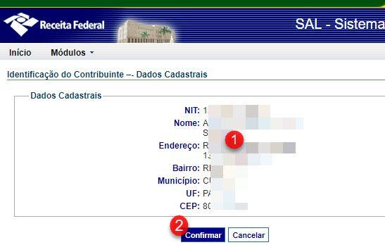 dados cadastrais contribuinte INSS Previdência