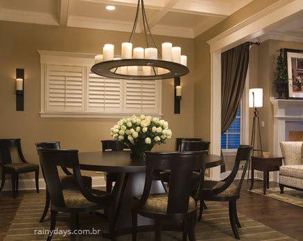 lustres modernos para sala de jantar mesa