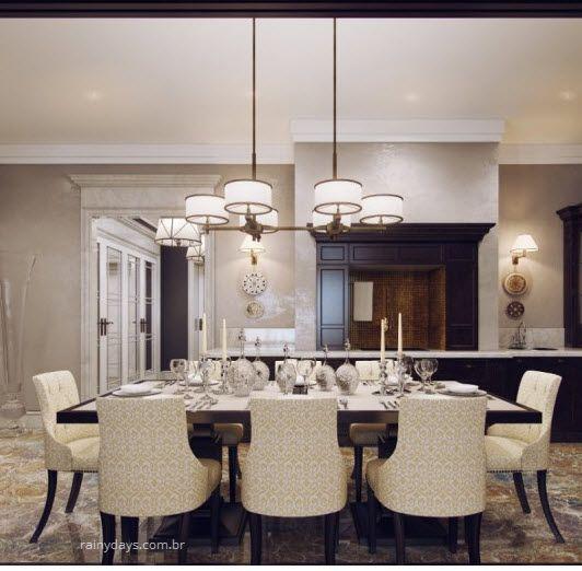 Modelos modernos de luminárias sala de jantar 1