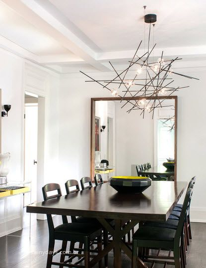 Modelos modernos de luminárias sala de jantar 3