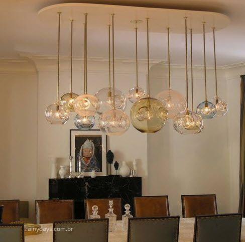 Modelos de lustres modernos para sala de jantar 3