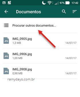 Procurar outros documentos WhatsApp app