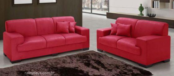 sofas 2 e 3 lugares tom vermelho 1