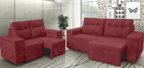 sofas 2 e 3 lugares tom vermelho 2