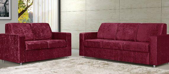 sofas 2 e 3 lugares tom vermelho 3