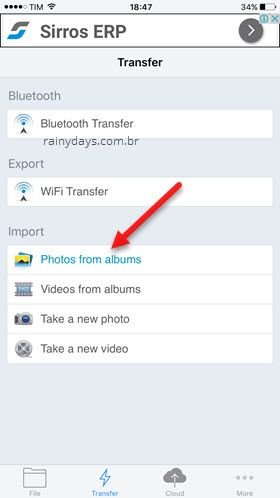 Transferir fotos iPhone Zip Tool