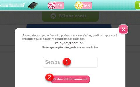 apagar conta do game no Android e iPhone